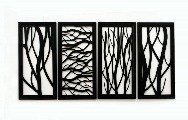 Tablou patru piese - copaci